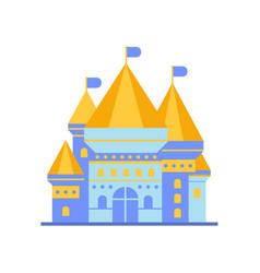 Light blue fairytale royal castle or palace vector