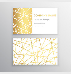 Luxury business card gold and white horizontal vector