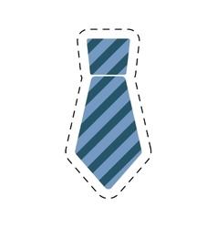 Necktie elegant father day cut line vector