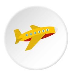 Plane icon circle vector