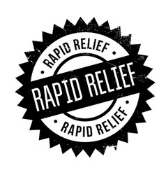 rapid relief rubber stamp vector image