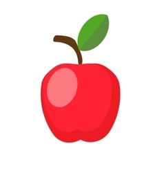 red apple with leaf vector image