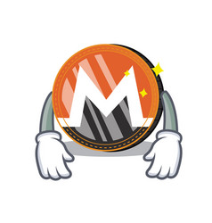 Tired monero coin character cartoon vector