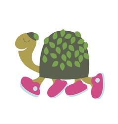 Turtle on walk vector image vector image