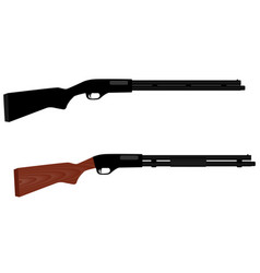 two rifles for hunting vector image