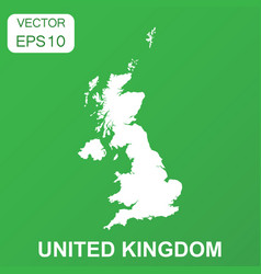 united kingdom map icon business concept united vector image