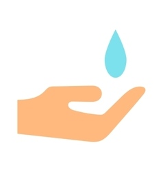 Water saving concept ecology environment drop eco vector
