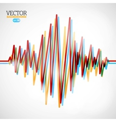 Waveform background vector