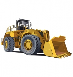 wheel loader vector image vector image