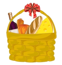 Basket with product vector