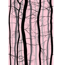 Forest branches seamless pattern fog in the vector
