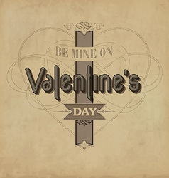 Vintage valentines template vector