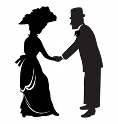 Victorian couple vector