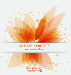 Leaf concept vector