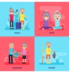 Leisure activity flat concept vector