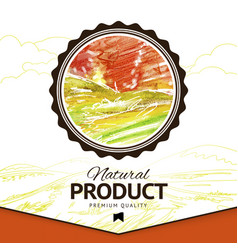 watercolor styled drawing natural product vector image