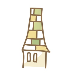 Icon chimney vector