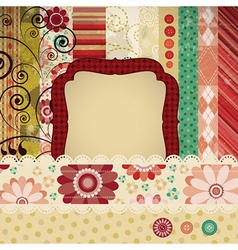 Patchwork scrap background vector