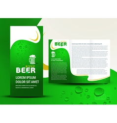 Brochure folder card beer bar element design vector