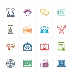 Communication icons set 2 - colored series vector
