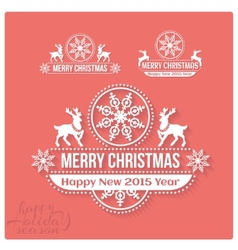 Wishing you much joy holiday season happy new 2015 vector
