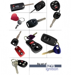 ignition keys vector image