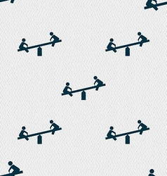 Swing icon sign seamless pattern with geometric vector