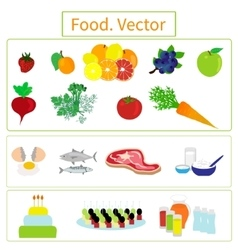 Food elements vector