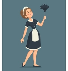 Smiling cleaning woman vector