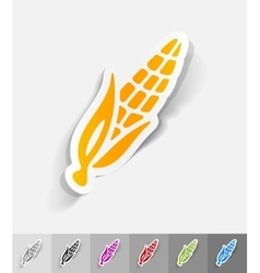 Realistic design element corn vector