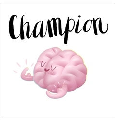 Champion and lettering train your vector