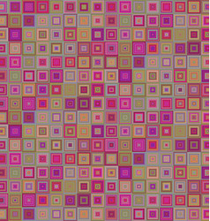 Abstract concentric square mosaic background vector