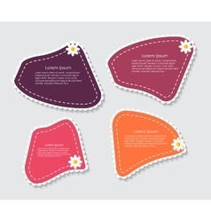 Beautiful Labels with Flower vector image