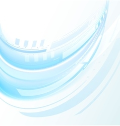 Blue abstract wave on white background vector image vector image