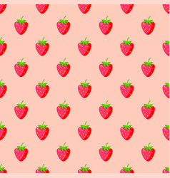 Cartoon fresh strawberry fruits seamless pattern vector