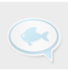 Christian religion symbol fish Concept speech vector image