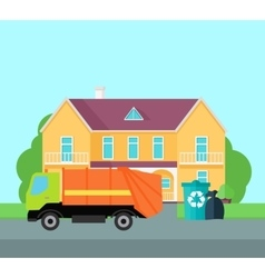 Cleaning Garbage From the City Streets vector image