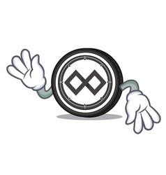 Crazy tenx coin mascot cartoon vector