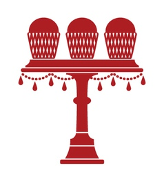 Cup cake stand with drops vector