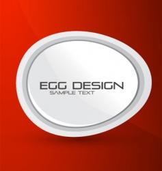 egg design background vector image
