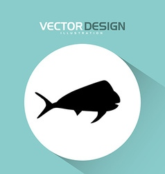 fishing icon design vector image