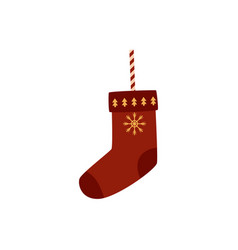 flat decorated christmas stockings vector image