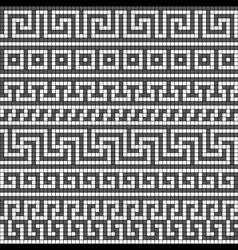 greek meander seamless vector image