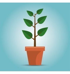 Green tree growth concept vector