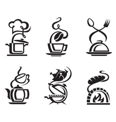 icon set meal vector image