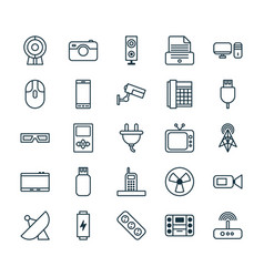 Icons set collection of surveillance extension vector