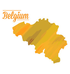 Isolated belgian map vector