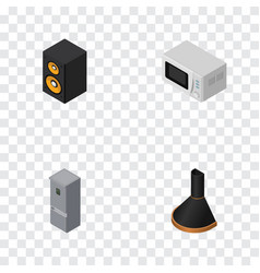 Isometric technology set of air extractor music vector
