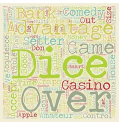 Learn to Comedy Craps Tips and Strategies text vector image vector image