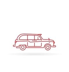 London taxi black cab vector